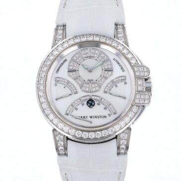 ハリー・ウィンストン HARRY WINSTON オーシャン クロノグラフ トリレトログラード 400/MCRA44WL.MD/D3.1 ホワイト文字盤 中古 腕時計 メンズ