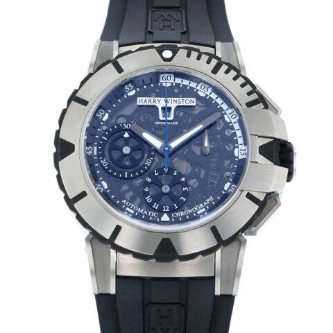 ハリー・ウィンストン HARRY WINSTON オーシャン スポーツ クロノグラフ OCSACH44ZZ001 ブラック文字盤 メンズ 腕時計 【新品】