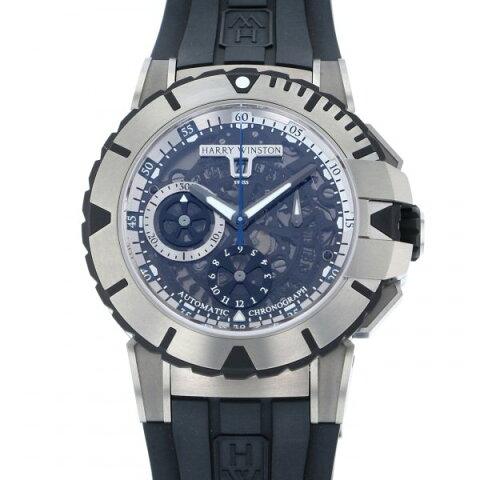 ハリー・ウィンストン HARRY WINSTON オーシャン スポーツ クロノグラフ OCSACH44ZZ002 ブラック文字盤 メンズ 腕時計 【新品】