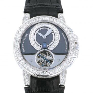 【ポイントバックセール 3%ポイント還元】 ハリー・ウィンストン HARRY WINSTON オーシャン トゥールビヨン 世界限定15本 400/MAT44WL.D00 グレー/シルバー文字盤 メンズ 腕時計 【中古】