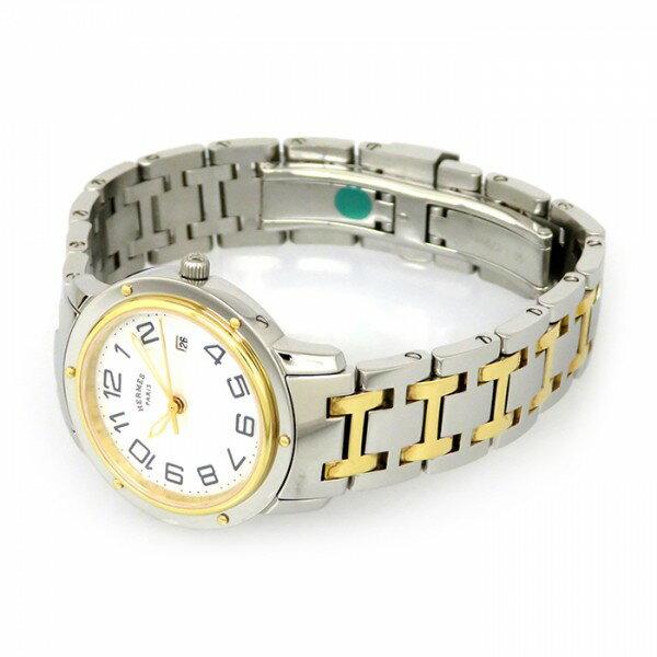 エルメスHERMESクリッパーCP1.320.212/4968ホワイト文字盤新品腕時計レディース
