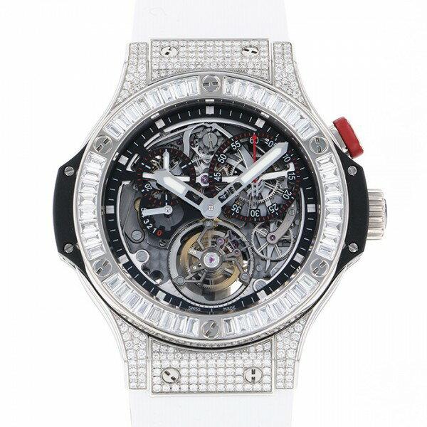 ウブロ HUBLOT ビガーバン ダイヤモンド トゥールビヨン 308.TX.130.RX.094 グレー文字盤 メンズ 腕時計 【中古】
