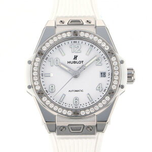 Hublot HUBLOT Big Bang One Click Steel White Diamond 465.SE.2010.RW.1204 White Dial Ladies Wrist Watch [New]