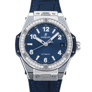 Hublot HUBLOT Big Bang One Click Steel Blue Diamond 465.SX.7170.LR.1204 Blue Dial Ladies Wrist Watch [New]