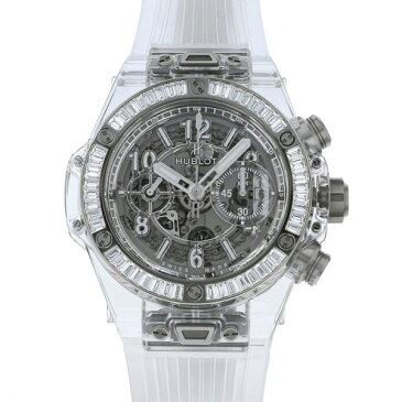 ウブロ HUBLOT ビッグバン ウニコ サファイアバゲット 411.JX.4802.RT.1904 グレー文字盤 メンズ 腕時計 【新品】