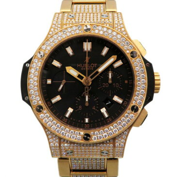 ウブロ HUBLOT ビッグバン ゴールド ベゼル・ラグ・ブレスダイヤ 301.PX.1180.PX.2704 ブラック文字盤 メンズ 腕時計 【新品】