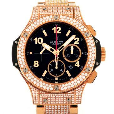 ウブロ HUBLOT ビッグバン ゴールド ベゼル・ラグ・ブレスダイヤ 301.PX.130.PX.2704 ブラック文字盤 メンズ 腕時計 【新品】