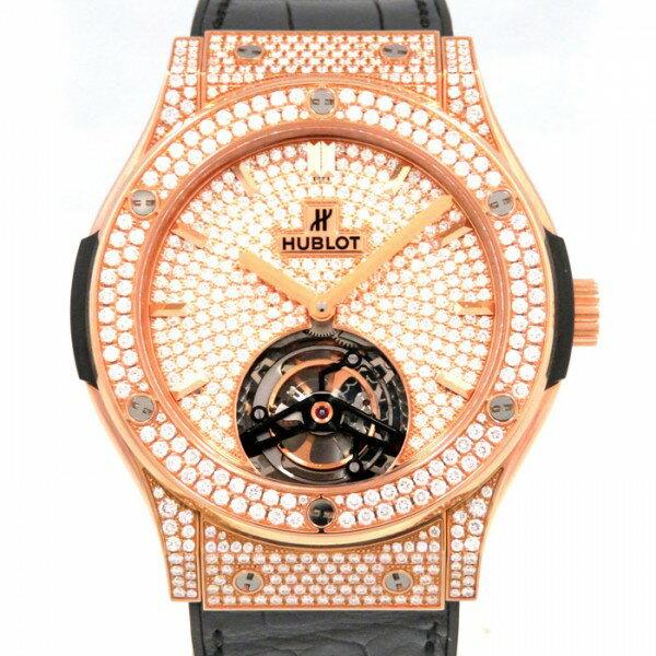 ウブロ HUBLOT クラシックフュージョン トゥールビヨン 505.OX.9010.LR.1704 全面ダイヤ文字盤 メンズ 腕時計 【新品】