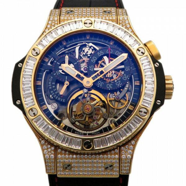 ウブロ HUBLOT ビッグバン トゥールビヨン ベゼルバケットダイヤ 308.PX.130.RX.094 ブラック文字盤 中古 腕時計 メンズ