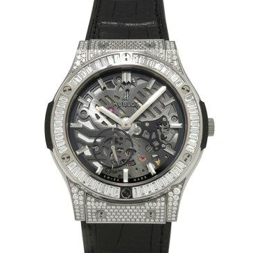 ウブロ HUBLOT クラシックフュージョン クラシコ ウルトラシン チタニウム ジュエリー 515.NX.0170.LR.0904 スケルトン」文字盤 メンズ 腕時計 【新品】