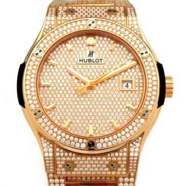 ウブロ HUBLOT クラシック・フュージョン キングゴールド ブレスレット フルパヴェ 542.OX.9010.OX.3704 ダイヤモンド文字盤 メンズ 腕時計 【新品】