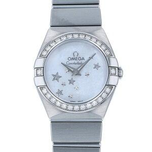 オメガ OMEGA コンステレーション ブラッシュ クォーツ ベゼルダイヤ 123.15.24.60.05.003 ホワイト文字盤 レディース 腕時計 【中古】