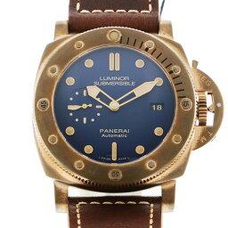 パネライ PANERAI サブマーシブル 3デイズ ブロンゾ PAM00671 ブルー文字盤 メンズ 腕時計 【中古】