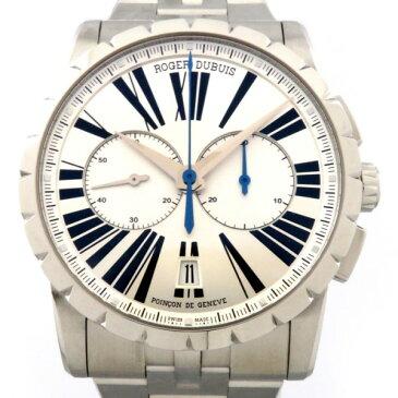 ロジェ・デュブイ ROGER DUBUIS エクスカリバー クロノ DBEX0451 シルバー文字盤 メンズ 腕時計 【新品】