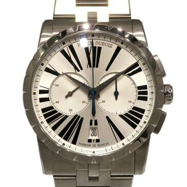 ロジェ・デュブイ ROGER DUBUIS エクスカリバー マイクロローター クロノグラフ オートマティック RDDBEX0451 シルバー文字盤 メンズ 腕時計 【新品】
