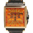 ロジェデュブイ ROGER DUBUIS キングスクエア クロノグラフ ks40-78-51-00/S0R00/B オレンジ文字盤 メンズ 腕時計 中古