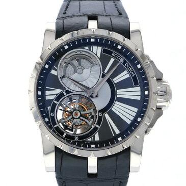 ロジェ・デュブイ ROGER DUBUIS エクスカリバー マイクロローター トゥールビヨン オープンダイヤル EX45-520-20-00/0ER01 ブラック文字盤 メンズ 腕時計 【中古】