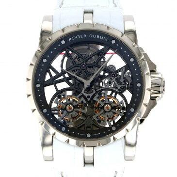 ロジェ・デュブイ ROGER DUBUIS エクスカリバー ダブルフライングトゥールビヨン スケルトン RDDBEX0281 シルバー文字盤 メンズ 腕時計 【中古】