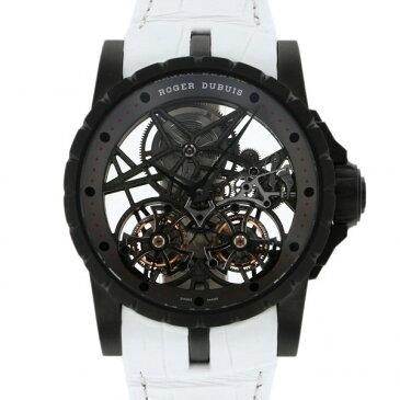 ロジェ・デュブイ ROGER DUBUIS エクスカリバー ダブルフライングトゥールビヨン RDDBEX0471 シルバー文字盤 メンズ 腕時計 【中古】