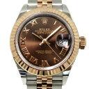 ロレックス ROLEX デイトジャスト 279171 チョコブラウンローマ文字盤 レディース 腕時計 【中古】