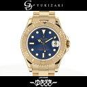 ロレックス ROLEX ヨットマスター 68628 ブルー文字盤 ボーイズ 腕時計 【中古】
