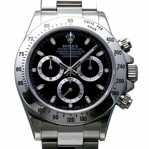ロレックスROLEXデイトナ116520ブラック文字盤中古腕時計メンズ