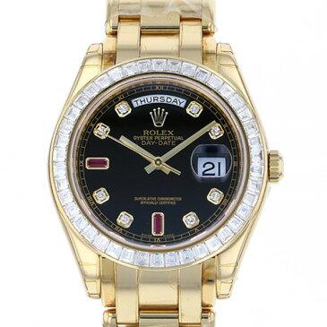 ロレックス ROLEX デイデイト 18958BR ブラック/ダイヤモンド/ルビー文字盤 メンズ 腕時計 【新品】