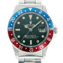 ロレックス ROLEX GMTマスター 赤/青ベゼル 1975 ブラック文字盤 メンズ 腕時計 【アンティーク】