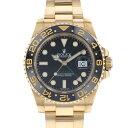 ロレックス ROLEX GMTマスターII 116718LN ブラック文字盤 メンズ 腕時計 【中古】