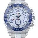 ロレックス ROLEX ヨットマスターll 116680 ホワイト文字盤 メンズ 腕時計 【中古】