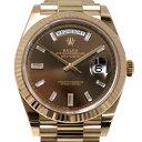 株式会社ジェムキャッスルゆきざきで買える「ロレックス ROLEX デイデイト 40 228235A チョコレート文字盤 メンズ 腕時計 【中古】」の画像です。価格は3,680,000円になります。