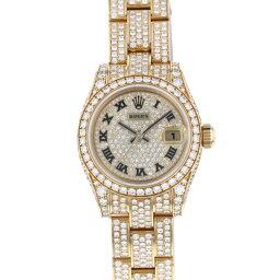 ロレックス ROLEX デイトジャスト 179458ZER 全面ダイヤ文字盤 レディース 腕時計 【中古】