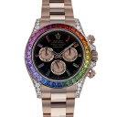 ジェムキャッスルゆきざきで買える「ロレックス ROLEX デイトナ レインボー 116595RBOW ブラック/ピンク文字盤 メンズ 腕時計 【新品】」の画像です。価格は35,800,000円になります。
