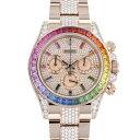 ロレックス ROLEX デイトナ 全面ラグブレス中央ダイヤ 116595RBOW 全面ダイヤ文字盤 メンズ 腕時計 【新品】
