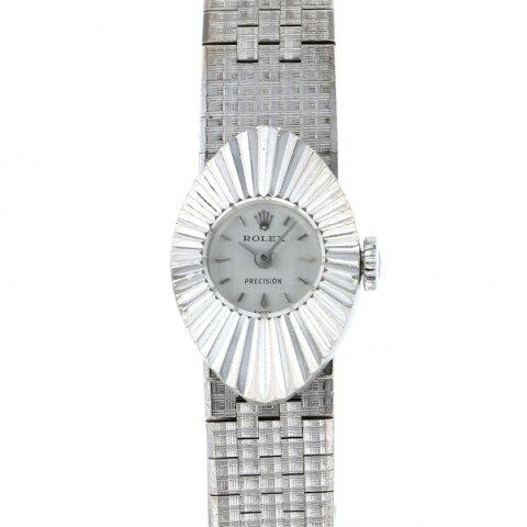 ロレックス ROLEX プレシジョン アーモンド シルバー文字盤 中古 腕時計 レディース
