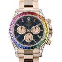 ジェムキャッスルゆきざきで買える「ロレックス ROLEX デイトナ レインボー 116595RBOW ブラック文字盤 メンズ 腕時計 【中古】」の画像です。価格は32,800,000円になります。