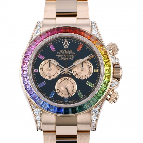 ロレックス ROLEX デイトナ レインボー 116595RBOW ブラック文字盤 中古 腕時計 メンズ