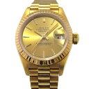 ロレックス ROLEX デイトジャスト 69178 シャンパン文字盤 レディース 腕時計 【中古】
