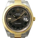 ロレックス ROLEX デイトジャストII 116333 グレー/ブラックローマ文字盤 メンズ 腕時計 【新品】