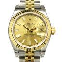 ロレックス ROLEX デイトジャスト 179173 シャンパン文字盤 レディース 腕時計 【新品】