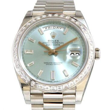 ロレックス ROLEX デイデイト40 228396TBR アイスブルー文字盤 メンズ 腕時計 【新品】
