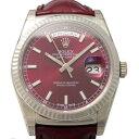 ロレックス ROLEX デイデイト36 118139 チェリー文字盤 メンズ 腕時計 【新品】