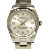 ロレックス ROLEX オイスターパーペチュアル 177200 シルバー369ピンク文字盤 レディース 腕時計 【新品】