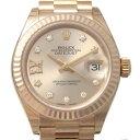 ロレックス ROLEX レディ デイトジャスト28 279175G サンダスト(IXダイヤ)文字盤 レディース 腕時計 【新品】
