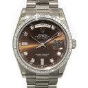 株式会社ジェムキャッスルゆきざきで買える「ロレックス ROLEX デイデイト 118399A チョコレートブラウン文字盤 メンズ 腕時計 【中古】」の画像です。価格は4,280,000円になります。