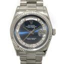 ロレックス ROLEX デイデイト 118239MG ブルーミリヤード文字盤 メンズ 腕時計 【中古】
