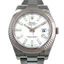 ロレックス ROLEX デイトジャスト 116334 ホワイト文字盤 メンズ 腕時計 【新品】