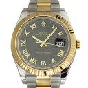 ロレックス ROLEX デイトジャストII 116333 ブラックローマ文字盤 メンズ 腕時計 【中古】