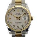 ロレックス ROLEX デイトジャスト 116233 アイボリーコンピューターアラビア文字盤 腕時計 【中古】