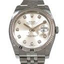 ロレックス ROLEX デイトジャスト 116234G 10Pダイヤ/シルバー文字盤 メンズ 腕時計 【新品】